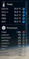 Preview: Rainmeter Speedfan and Processes skins