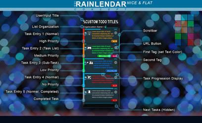 Rainlendar: Nice+Flat Skin Concept