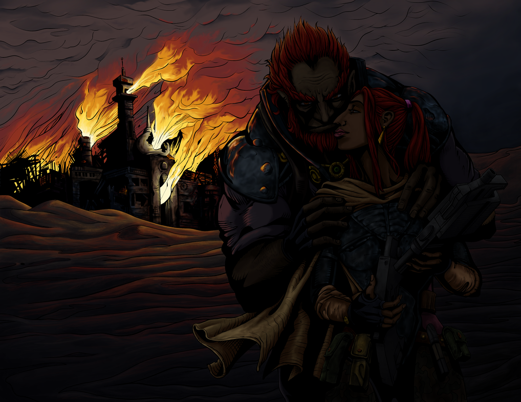 Flames of the Gerudo - Colored by TheGreatAhtnamas