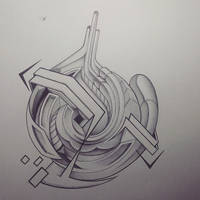 Abstract Bic Pen/Pencil Doodle