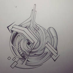 Abstract Bic Pen/Pencil Doodle by TheAetherOne