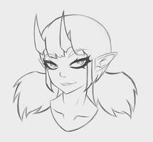 Digi Demon Girl Sketch.