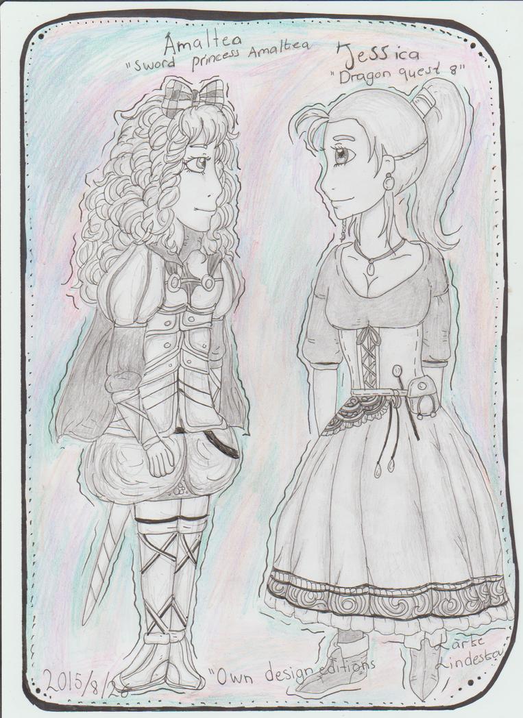 Jessica and Amaltea by Kamixazia