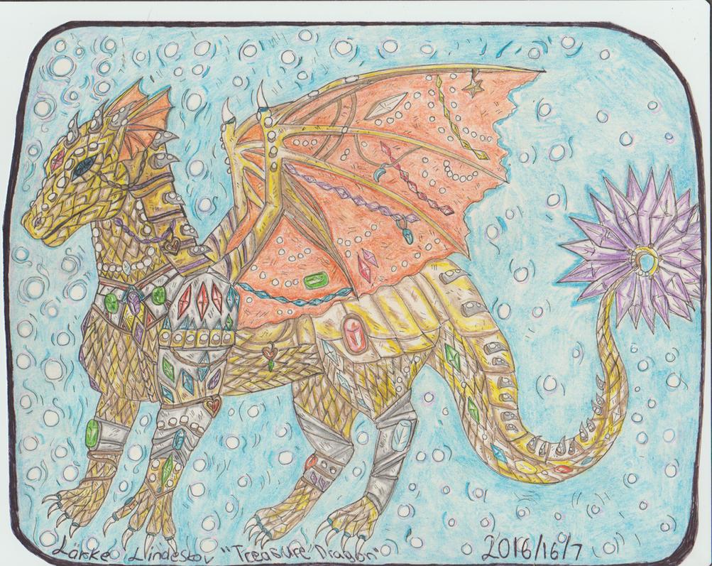Treasure dragon by Kamixazia