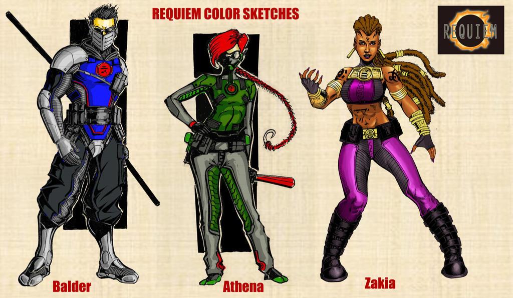 Requiem Color Sketches by MarkCDudley