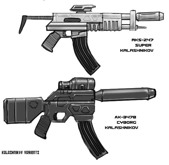 Kalashnikov-Varients by MarkCDudley