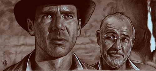 Indiana Jones drawing by Emmanuel-B