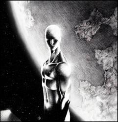 Silver surfer in space by Emmanuel-B
