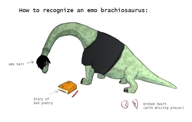 emo brachiosaurus by nymi