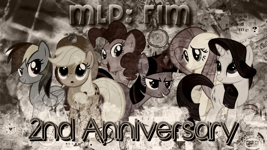 MLP 2nd Anniversary Wallpaper by SteelWing1