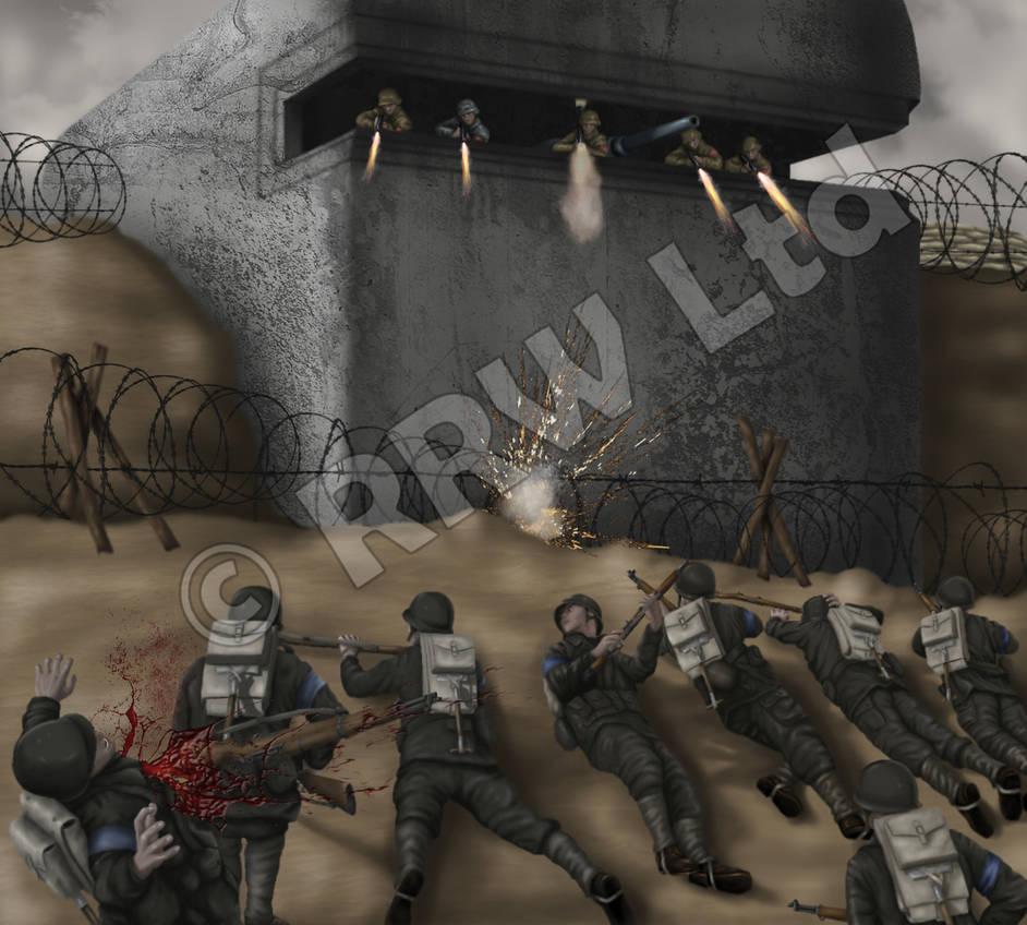 World war 2 bunker by diegolopezmata