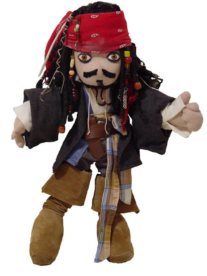 Captain Jack Sparrow Plush by neoqueenhoneybee