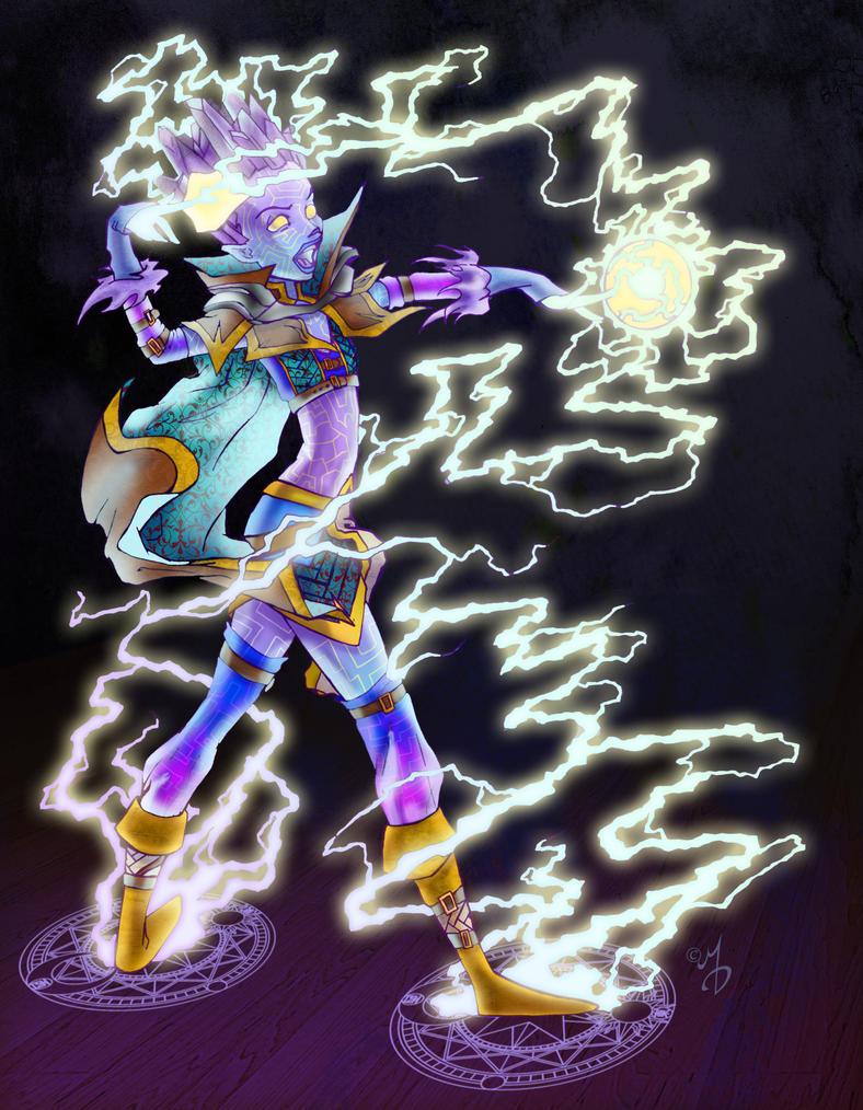 Zkaza DnD Genasi Sorceress 4e by neoqueenhoneybee