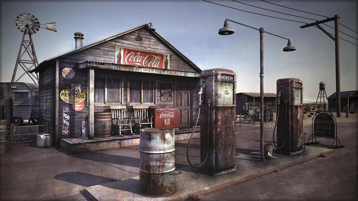Gas Stations Near Me >> Desert gas station by Omessler on DeviantArt