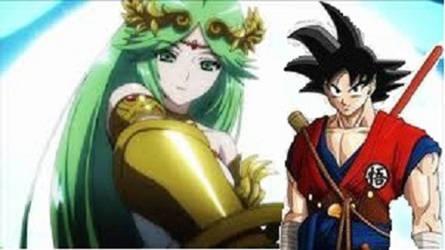 Goku x Palutena by SonGokuSaiyan1