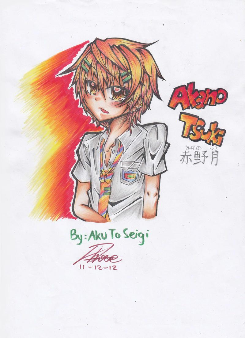 OC: Akano Tsuki (colored) by AkuToSeigi