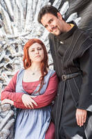 Catelyn (Book vers.) and Petyr (HBO vers.) by Padfoot-D