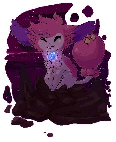 space cat by RabbitBatThing