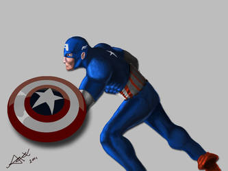 Captain America by Drawer888