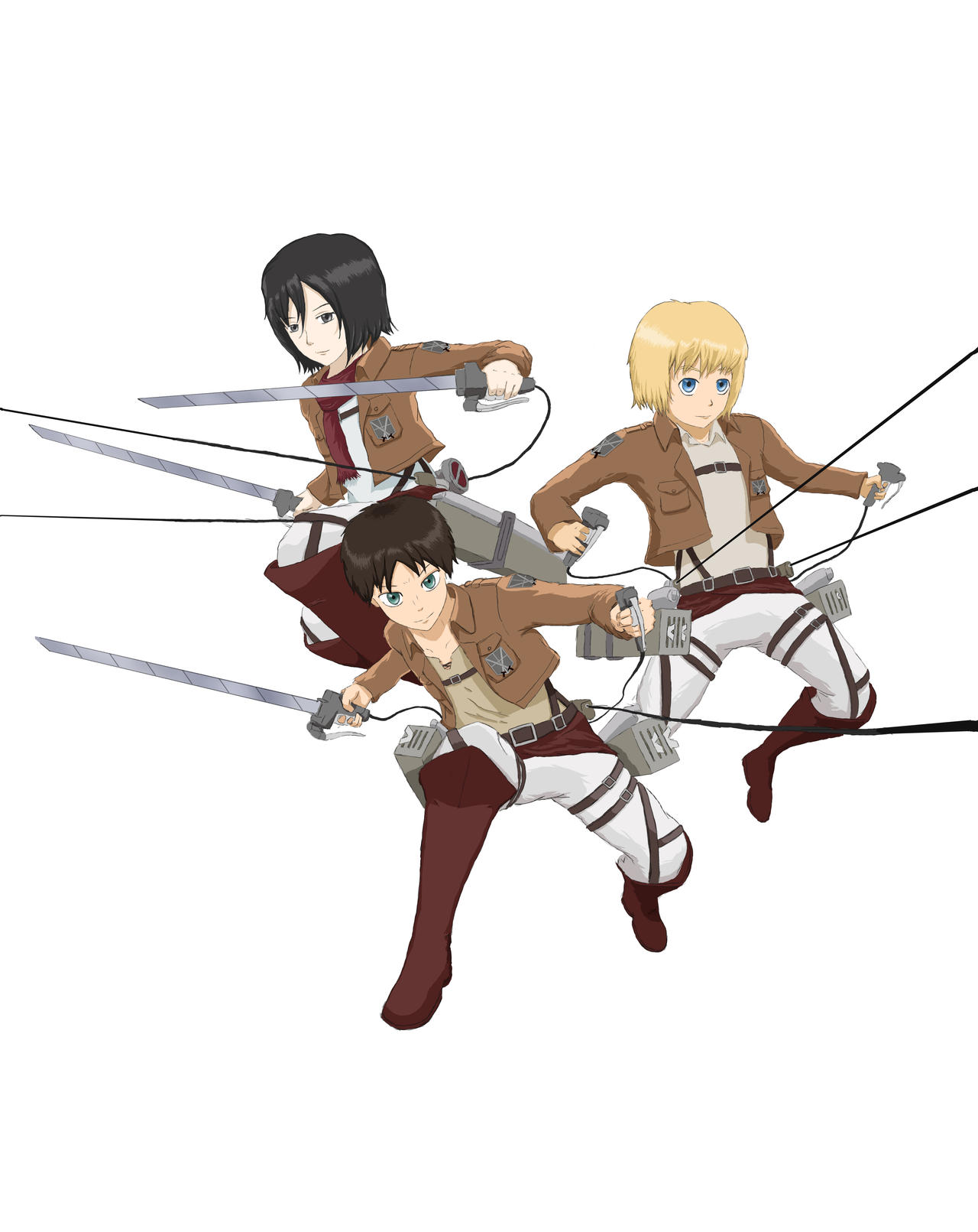 Shingeki no Kyojin: fan art by Drawer888
