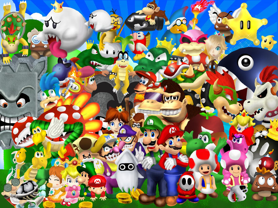 Mario group photo by brainspewage