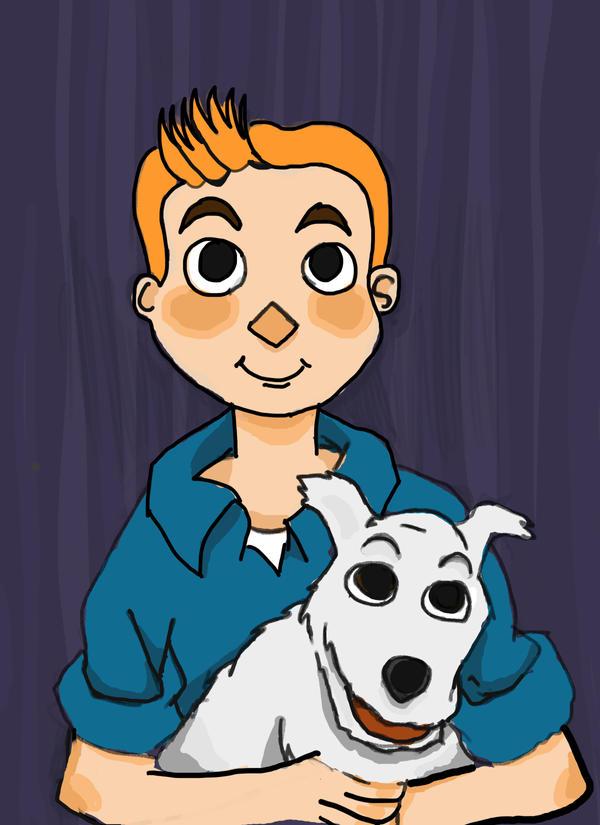 Tintin by brainspewage