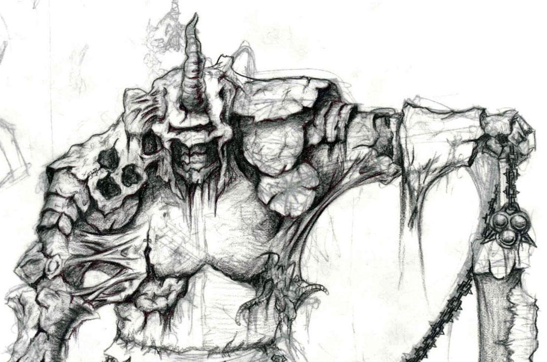 Fantasy Nurgle Champion by Kezef