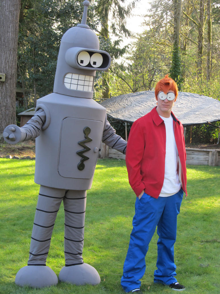 Bender and Fry Costume Cosplay by OlyRider