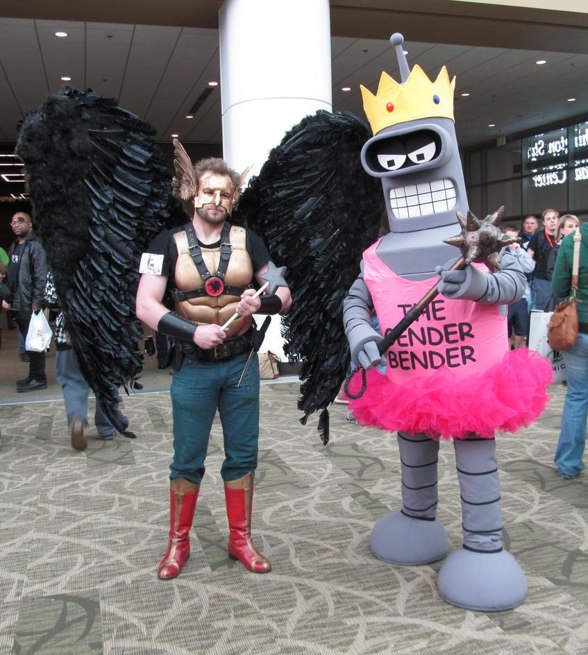 Bender and Hawk Man 2012 by OlyRider