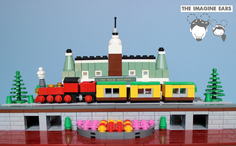 LEGO microscale Magic Kingdom: Train Station by TheImagineEars