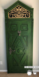 Haunted Mansion haunted corridor door by TheImagineEars