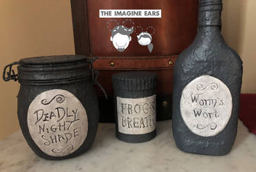 Nightmare Before Christmas Poison Ingredient Jars by TheImagineEars