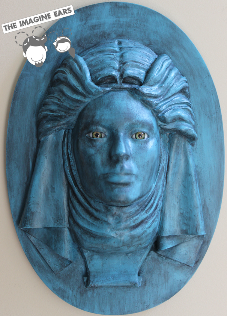 Haunted Mansion Madame Leota tombstone face by TheImagineEars