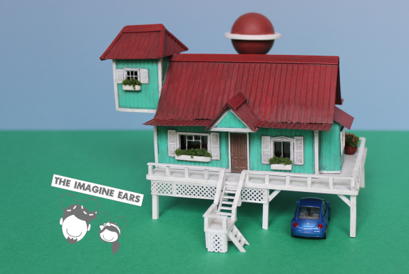Lilo and Stitch miniature house in HO scale 1:87 by TheImagineEars