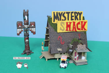 1:87 Mystery Shack miniature from Gravity Falls by TheImagineEars