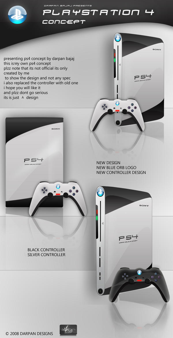 PLAYSTATION 4 concept by darpan-aero