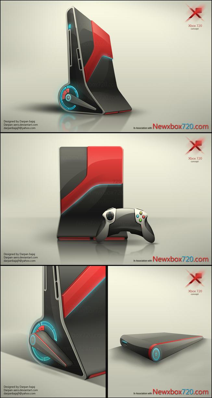 Xbox 720 concept by darpan-aero