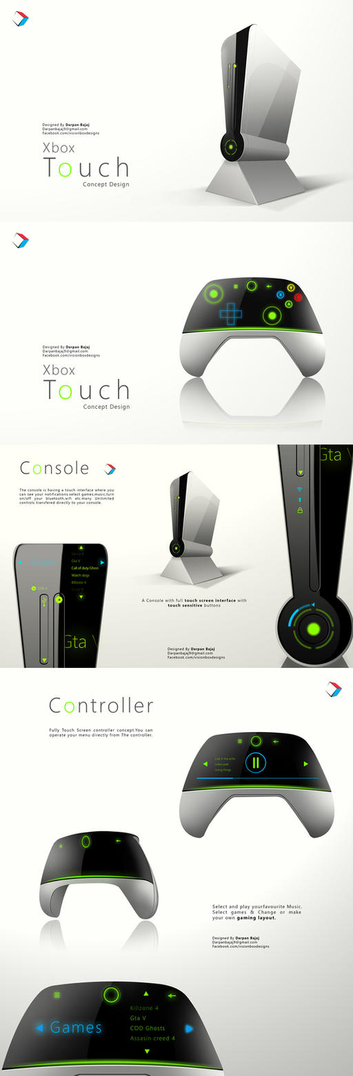 Xbox touch Concept Design by darpan-aero