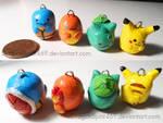 Pokemon Charms: Kanto Starters