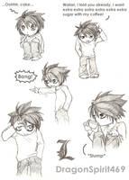 DeathNote: Chibi L Doodles by DragonSpirit469