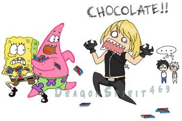Mello likes... CHOCOLATE by DragonSpirit469