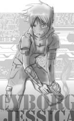 Cyborg Jessica Fanart by thecatsmewz