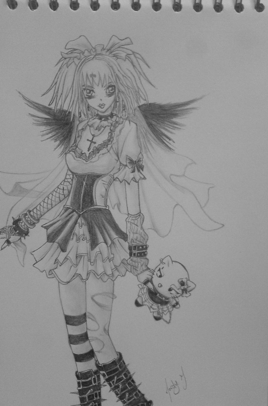 draw gothic girl by alfteconish on deviantart