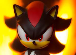 Shadow the hedgehog statue