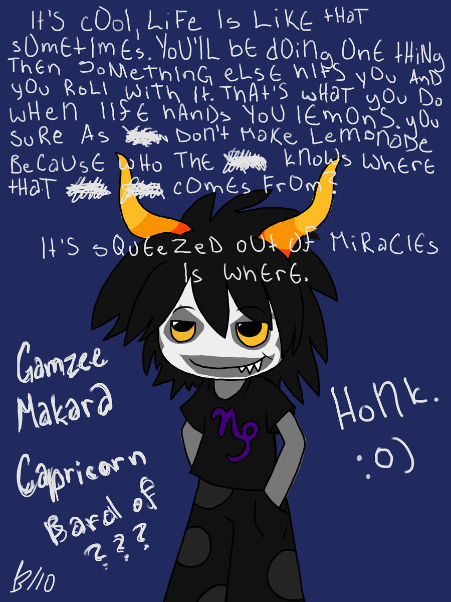 Gamzee Makara by ChinchillaChainChomp on DeviantArt