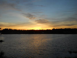 Sunset afterglow across the lake by knighttemplar1