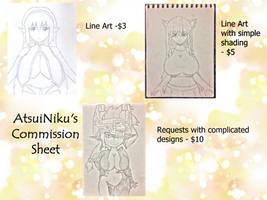 My Commission Sheet by AtsuiNiku