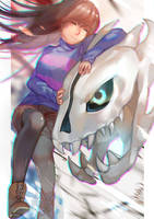 UT- the Girl and her Beast by christon-clivef