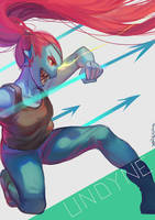 UT- Undyne by christon-clivef