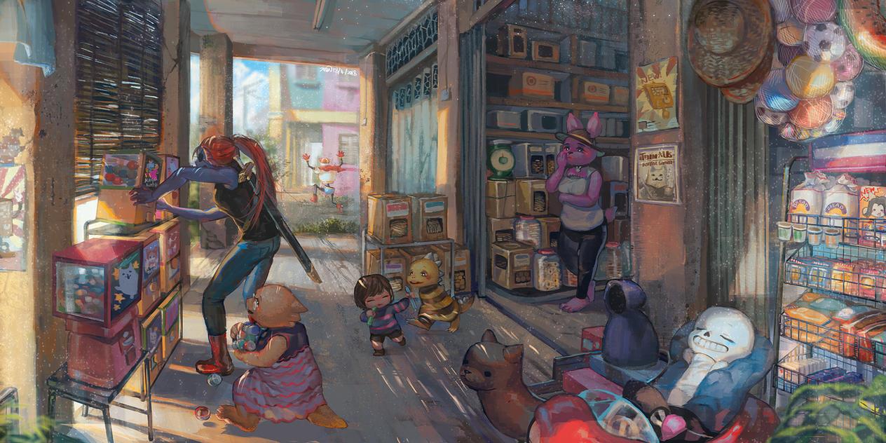 Ut- Nostalgic stores by christon-clivef